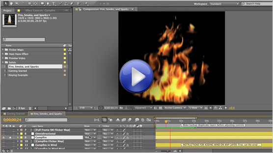 Fire & Smoke After Effects Tutorial